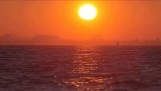 [10 Hours] Orange Sunset and Sea - Video & Audio [1080HD] SlowTV