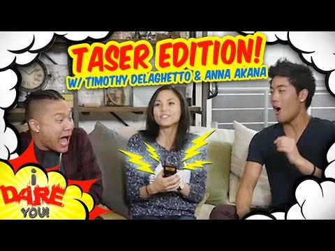 Thumbnail: I Dare You: GETTING TASED! (ft. Timothy Delaghetto & Anna Akana)