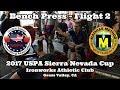 RAW BENCH PRESS Flight 2 - 2017 USPA Sierra Nevada Cup LiveStream Video