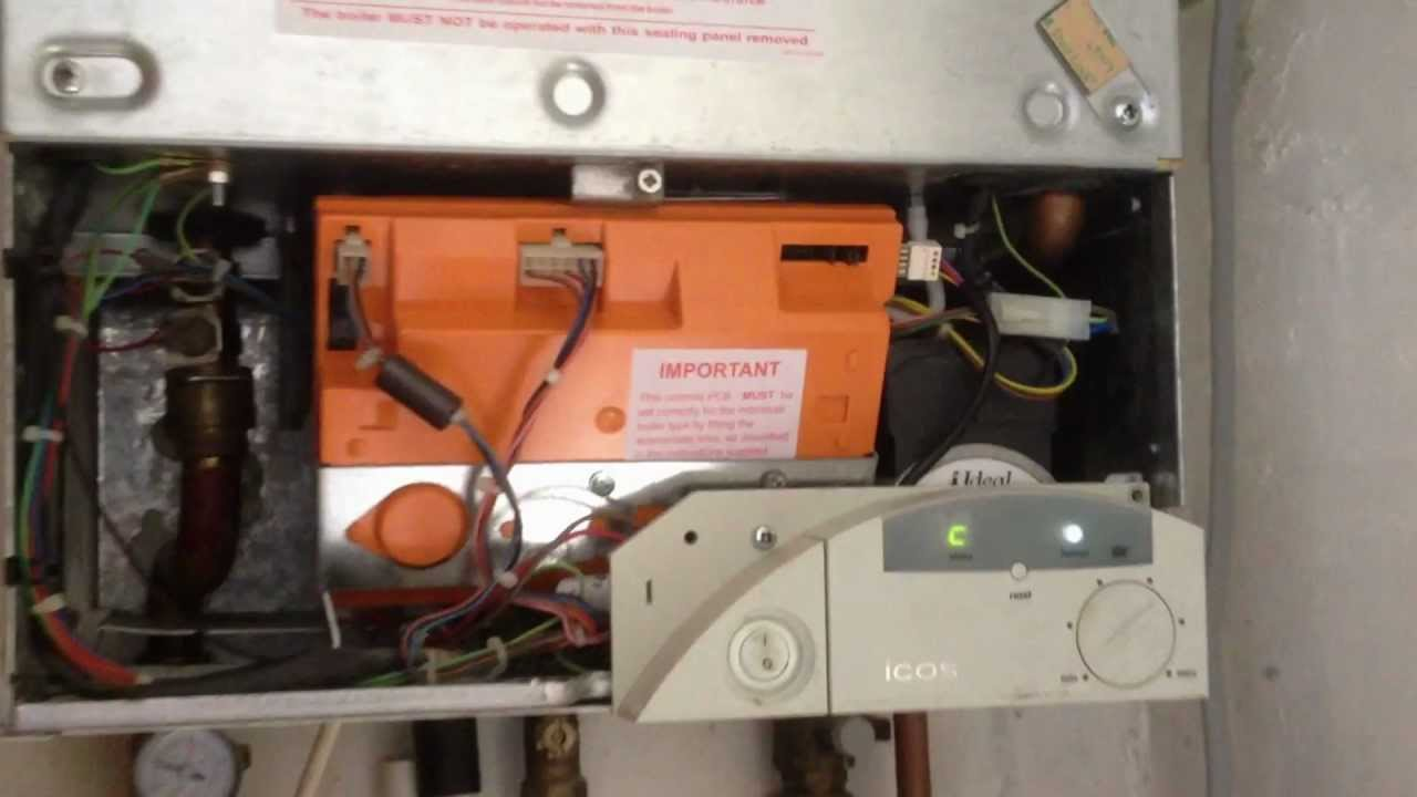Gas boiler Ideal icos system HE 24 after repair  Emmergency plumbers  YouTube