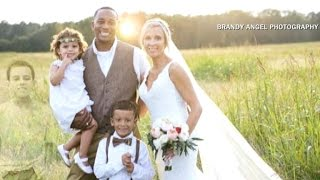 Wedding photo honors couple's deceased son