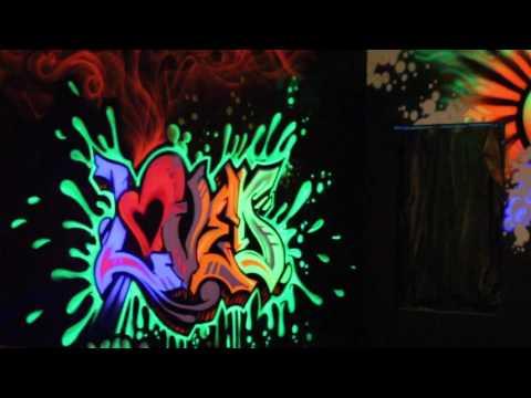 UV Graffiti Blacklight Mural Glowing