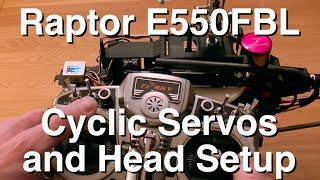 TT Raptor E550FBL Cyclic Servos and Head Setup