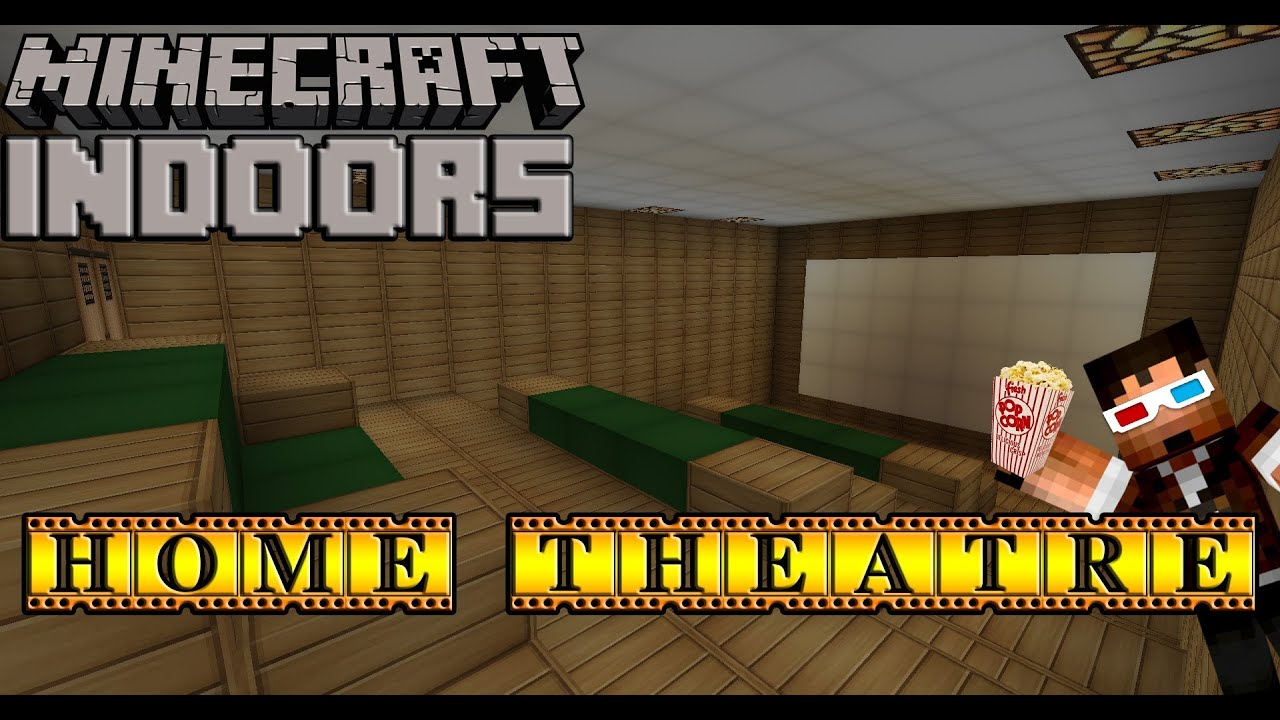 How to make home theater room - How To Build A Home Theater Room Minecraft Indoors Movie Theatre Tutorial Youtube