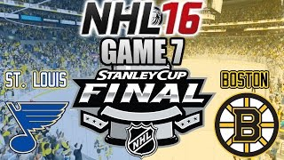 NHL 16: Stanley Cup Final - Game 7: St. Louis Blues VS Boston Bruins (NHL 16 Gameplay)