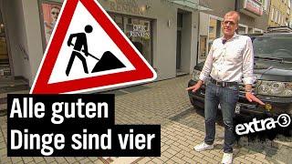 Realer Irrsinn: Mehrfach neugepflasterter Gehweg in Bielefeld