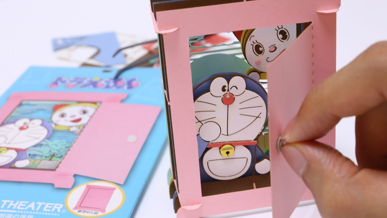 & Doraemon Anywhere Door DIY Paper Craft