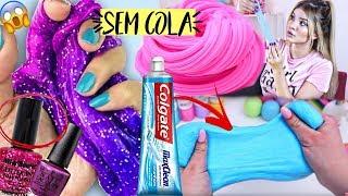DIY SLIMES FEITOS COM 1 INGREDIENTE E SEM COLA!! TESTADOS! #6  Michelle Almendra