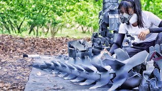 How To Build Your Own MechaGodzilla Armor! 56 Days To Make Wearable Monster Suit Using EVA & Gears!