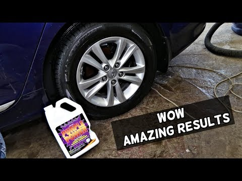 HOW TO CLEAN BRAKE DUST BUILD UP FROM CAR WHEELS RIMS