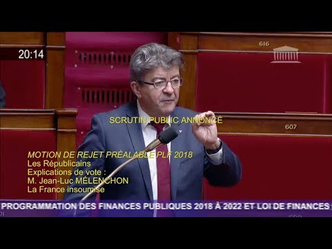 «IL FAUT DÉFINANCIARISER L'ÉCONOMIE» - Mélenchon