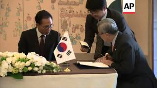 Pakistan President Asif Ali Zardari visits South Korea