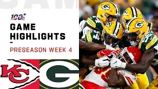 Chiefs vs. Packers Preseason Week 4 Highlights | NFL 2019