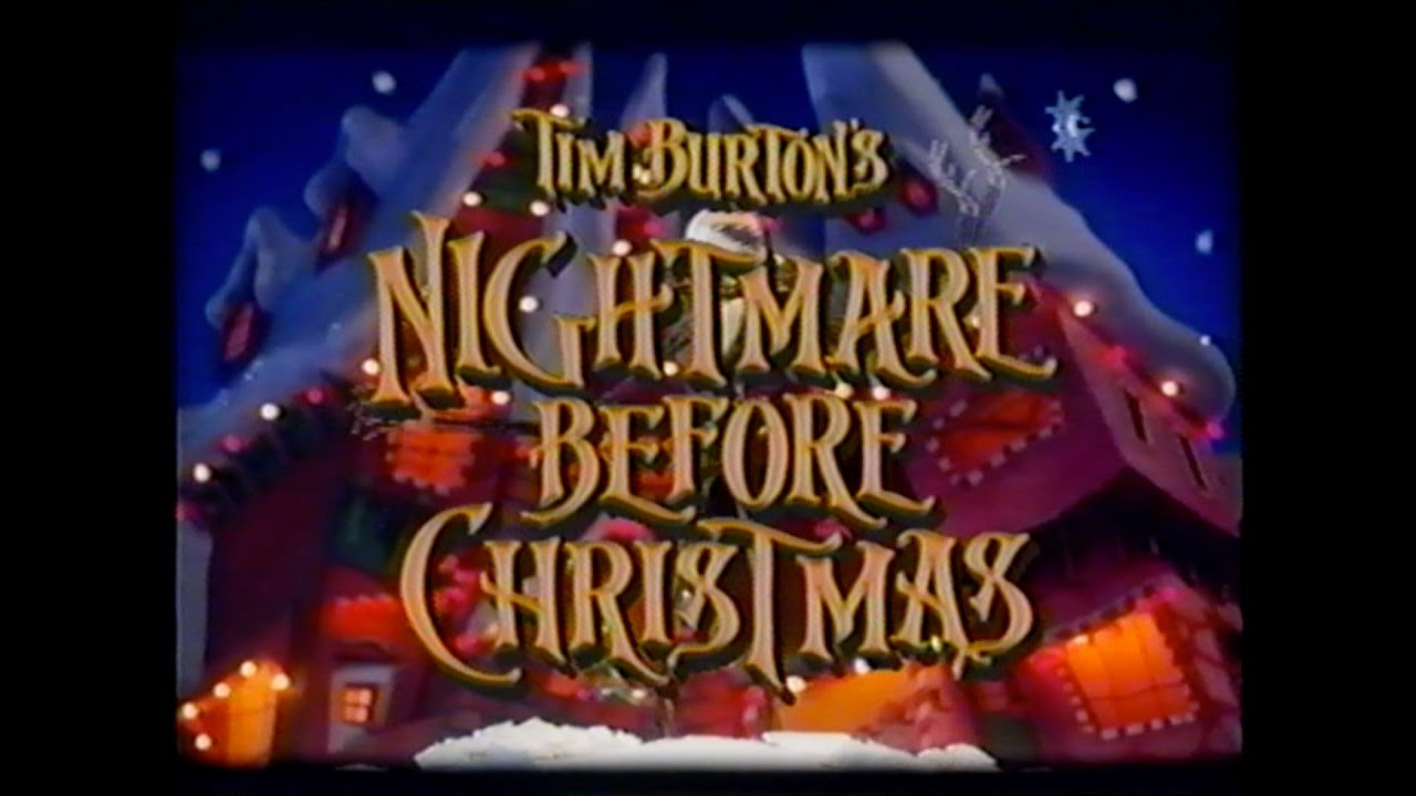 THE NIGHTMARE BEFORE CHRISTMAS MOVIE TRAILER [VHS] 1993 - YouTube