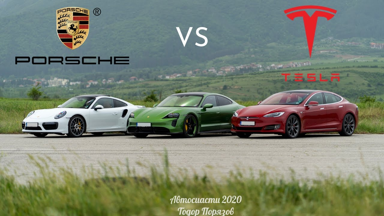 Silent Killers 2020 Porsche Taycan Turbo S Drag Races 2019 Tesla Model S P100d Carscoops