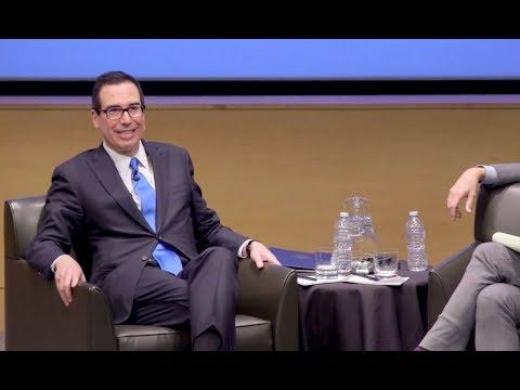 Treasury Secretary Steven Mnuchin speaks at UCLA