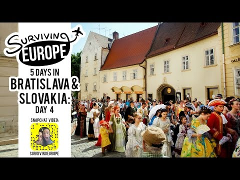 5 Days in Bratislava and Slovakia Day 4 with Surviving Europe (SnapChat)