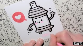 How To Draw a Cute Spray - Easy and Kawaii Drawings by Garbi KW