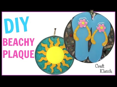 Resin Beachy Plaque | DIY Projects | Craft Klatch | How To