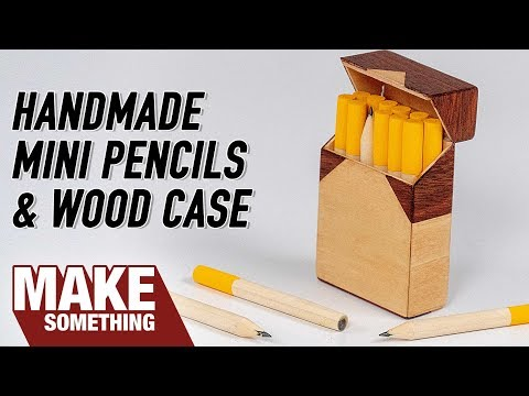 Making 20 Pencils and Hinged Wooden Case | Woodworking & Art