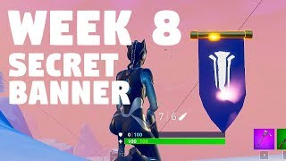 Secret banner WEEK 8, FORTNITE CHALLNEGES, SEASON 7