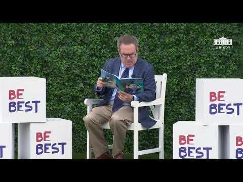 White House Easter Egg Roll Reading Nook - Administrator Andrew Wheeler