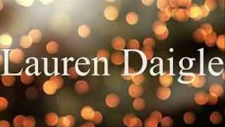 Download Lauren Daigle - Rescue (Lyric Video) Mp3 and Videos