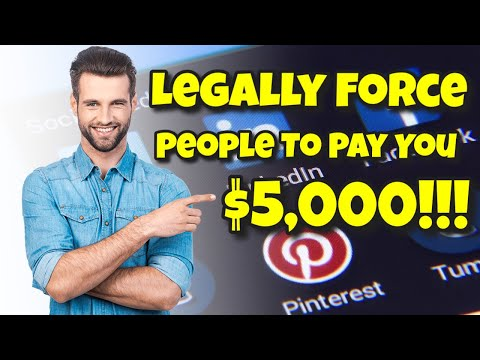 Leaglly Force People to Pay You $5000 Each!  NEW Secret System Exposed!