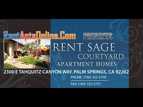 Palm Springs Apartments, Sage Courtyard Apartments For Rent; Palm Springs CA 92262, Rental Apts
