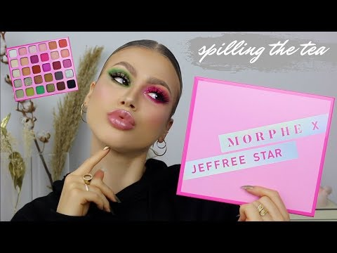 IS IT REALLY JEFFREE STAR APPROVED? | MORPHE X JEFFREE STAR PALETTE SWATCHES + REVIEW thumbnail