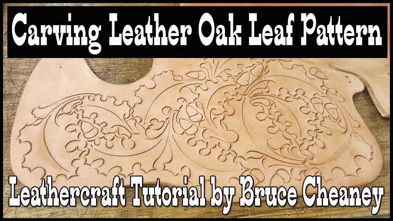 Carving Leather Oak Leaf Acorn Pattern With A Swivel