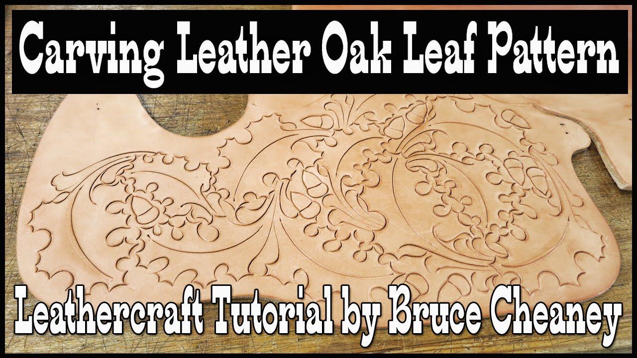 Oak leaf leather carving pattern