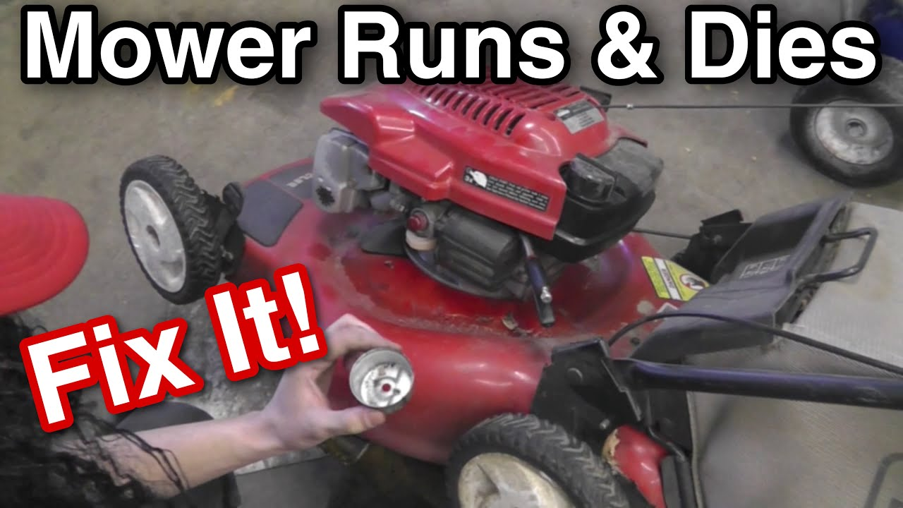 How To Repair A Push Mower That Runs And Dies Or Stalls Wont Run Toro Lawn Engine Diagram Carburetor Problem With Taryl Jr Youtube