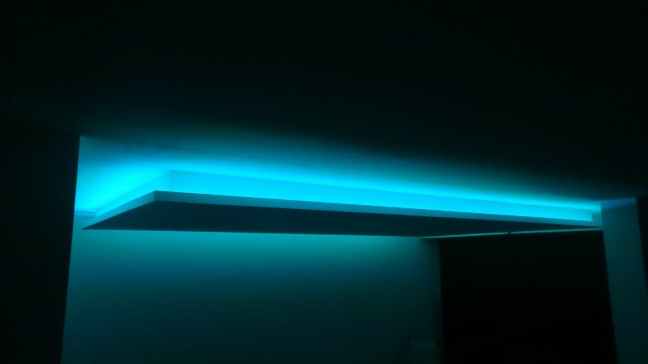 deckensegel mit lichtvouten indirekte beleuchtung im