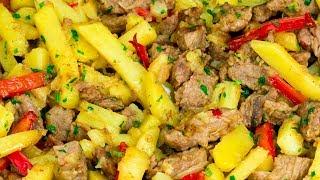 Если в доме есть мужчина! Соте с мясом и овощами спасет в любой ситуации! | Appetitno.TV