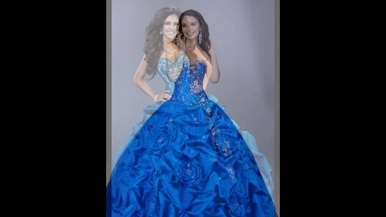 Los megores 20 vestidos para xv a os color azul youtube for Ornamentacion de 15 anos