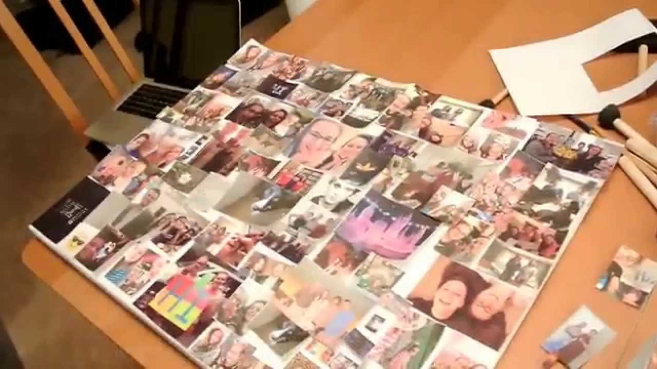 ideas for homemade picture collages - DIY photo collage Rachel and Veronika