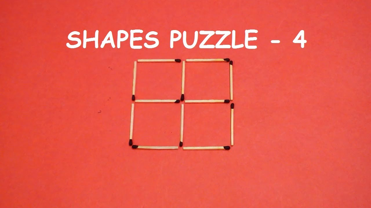 Try to SOLVE this Matchstick puzzle | Shapes puzzle - 4 ...