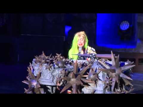 Lady Gaga starts crying during The Edge of Glory  St Paul, MN BTWB 2613