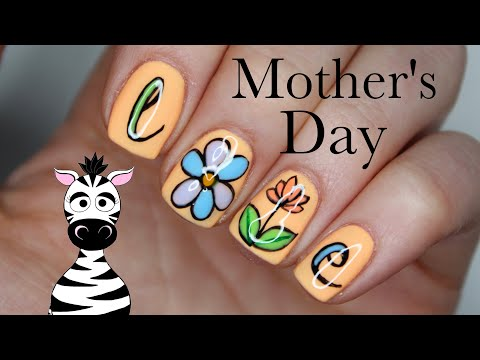 Floral Love Mother's Day Nail Art Tutorial   Madam Glam thumbnail