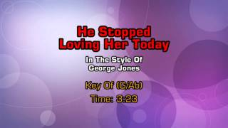 George Jones - He Stopped Loving Her Today (Backing Track)