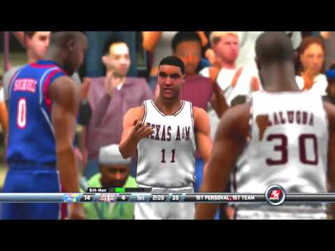 2K Sports College Hoops 2K8 Kansas Jayhawks vs Texas A&M Agg