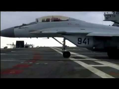 INS Vikramaditya MIG take off and landing