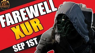 Destiny Xur Location September 1 - Where is Xur Today