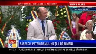 Traian Basescu la Oarba de Mures: Transilvania i-a costat scump pe romani