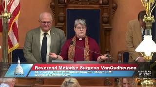 Sen. Zorn welcomes Rev. VanOudheusen to the Michigan Senate