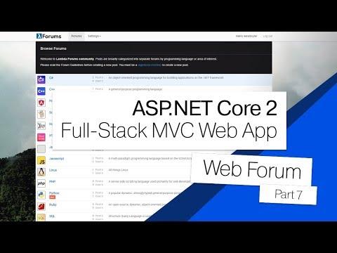 ASP.NET Core 2 MVC Forum | 07 | Topic View + Post Controller