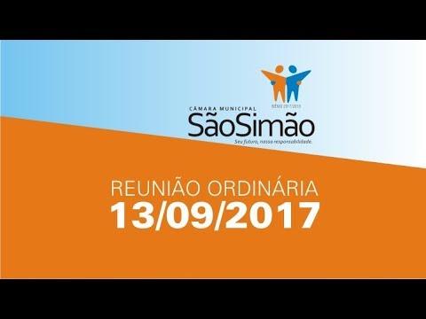 REUNIAO ORDINARIA 13/09/2017