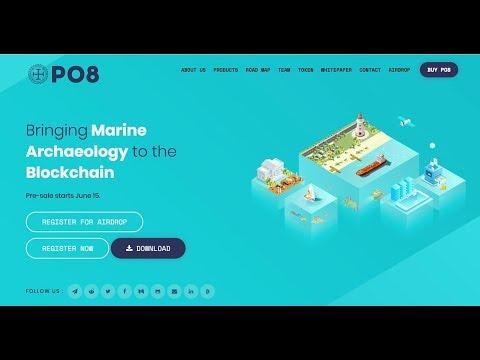 PO8 blockchain ecosystem that democratizes and decentralizes the marine archeology industry