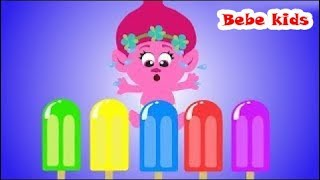 Troll Bebe's Family - Learn Colors With Ice Creams - Funny Stories & Nursery Rhymes